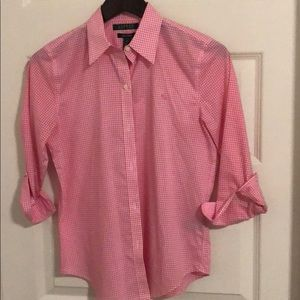 Lauren Ralph Lauren Gingham Button-up Blouse